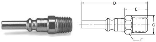 Parker 70 Series Male Pipe Thread Nipples