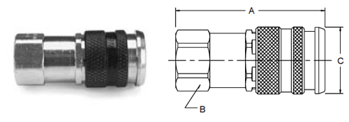 Parker HF Series Female Pipe Thread Couplers