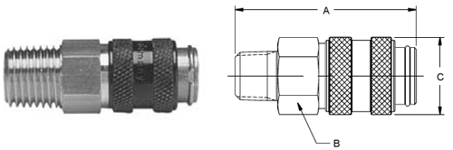 Parker HF Series Male Pipe Thread Couplers