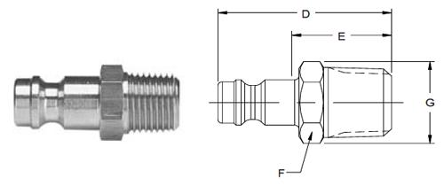 Parker HF Series Male Pipe Thread Nipples