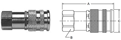 Parker RF Series Female Pipe Thread Couplers