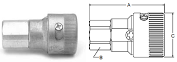 Parker Twist-Lock Series Female Pipe Thread Couplers
