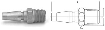 Parker Twist-Lock Series Male Pipe Thread Nipples