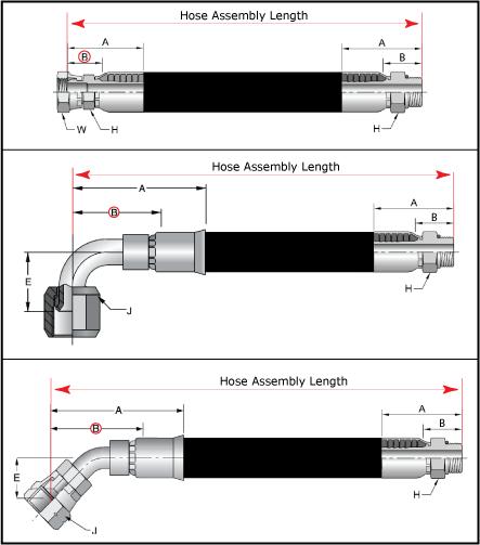 Hose Assembly Length - Parker PAGE