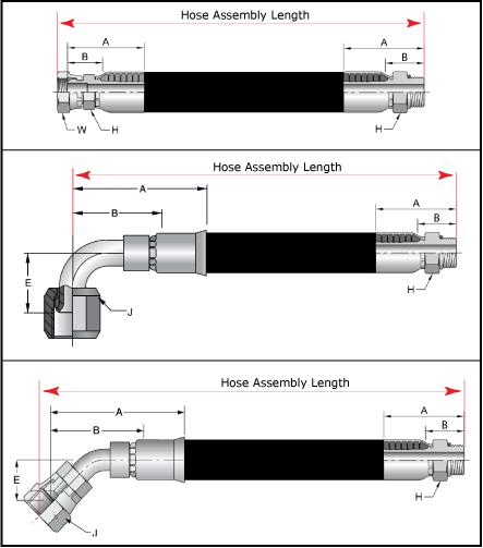 Hose Assembly Length - Standard