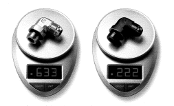 weight comparison of Parker SAE aluminum and SS fittings