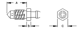 BrakeQuip Bleed Screw Drawing
