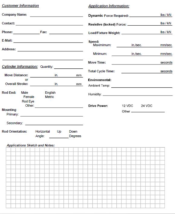 HAS for Solar Tracking Application Worksheet - Parker