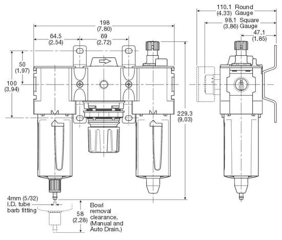 p32-filter-regulator-lubricator-dimensions