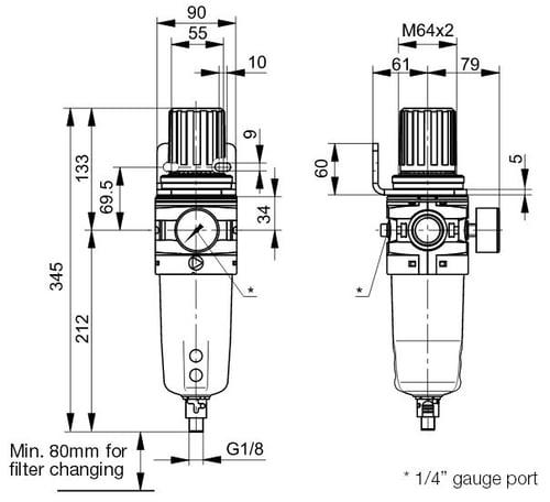 p3y-filter-regulator-dimensions