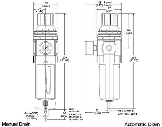 standard-filter-regulator-dimensions