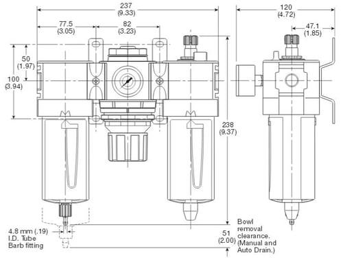 standard-filter-regulator-lubricator-dimensions