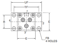 2MNR H Mounting Style Head Dimensions