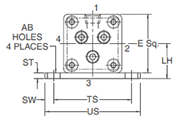 2MNR NB Mounting Style Head Dimensions