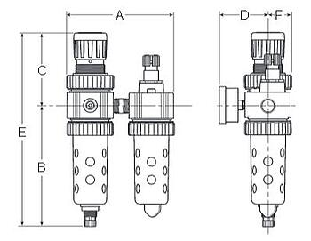 Prep-Air-II-05G-Economy-Two-Unit-Close-Nippled-Combination-Dimensions