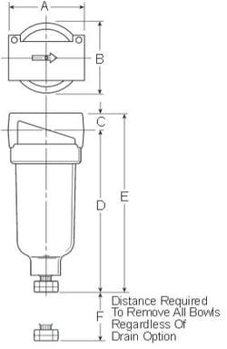 Prep-Air-II-14F-Miniature-Filter-Dimensions