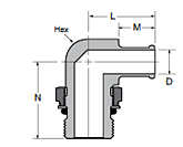 169HB-X-MIX Male Elbow Dimensions