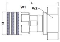 Parker FET Coupler Code 62 Flange Pad Dimensions