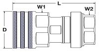 Parker FET Coupler Dimensions