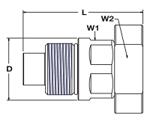 Parker FET Nipple Code 62 Flange Pad Dimensions