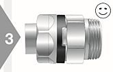 Image of EO3 Swivel Nut Assembly Check - Correct