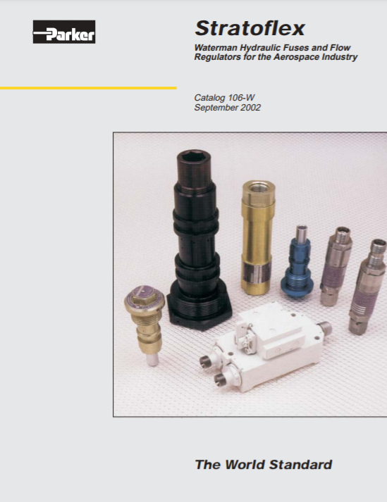 stratoflex hydraulic fuses and flow regulators