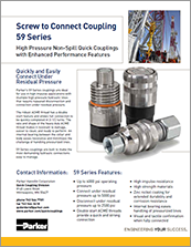 parker 59 series quick couplings - catalog# bul-3800-59