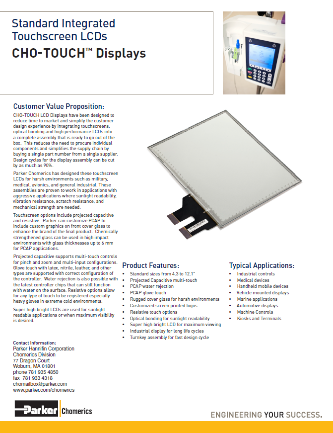 CHO-TOUCH Displays
