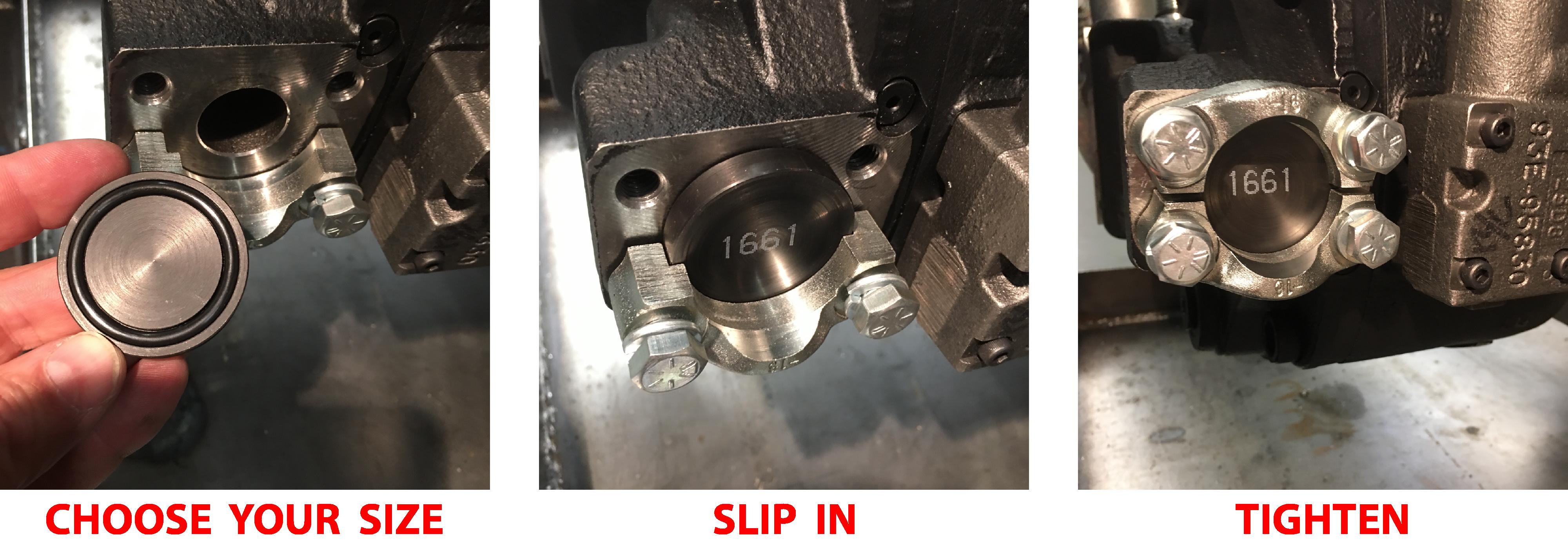 Using FlangeLock slug to seal open port