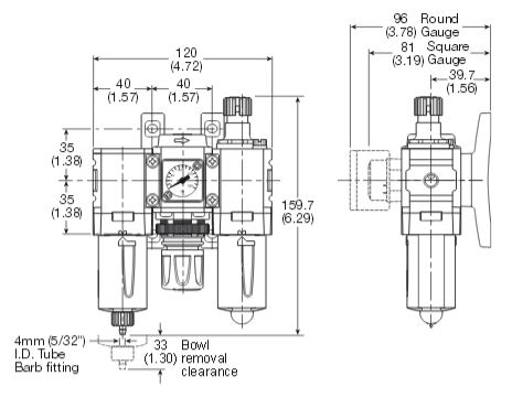 p31-filter-regulator-lubricator-dimensions