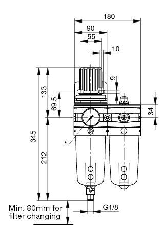 p3y-filterregulator-lubricator-dimens